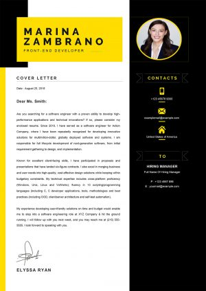 Example of Cover Letter Word Foramat for Alternance