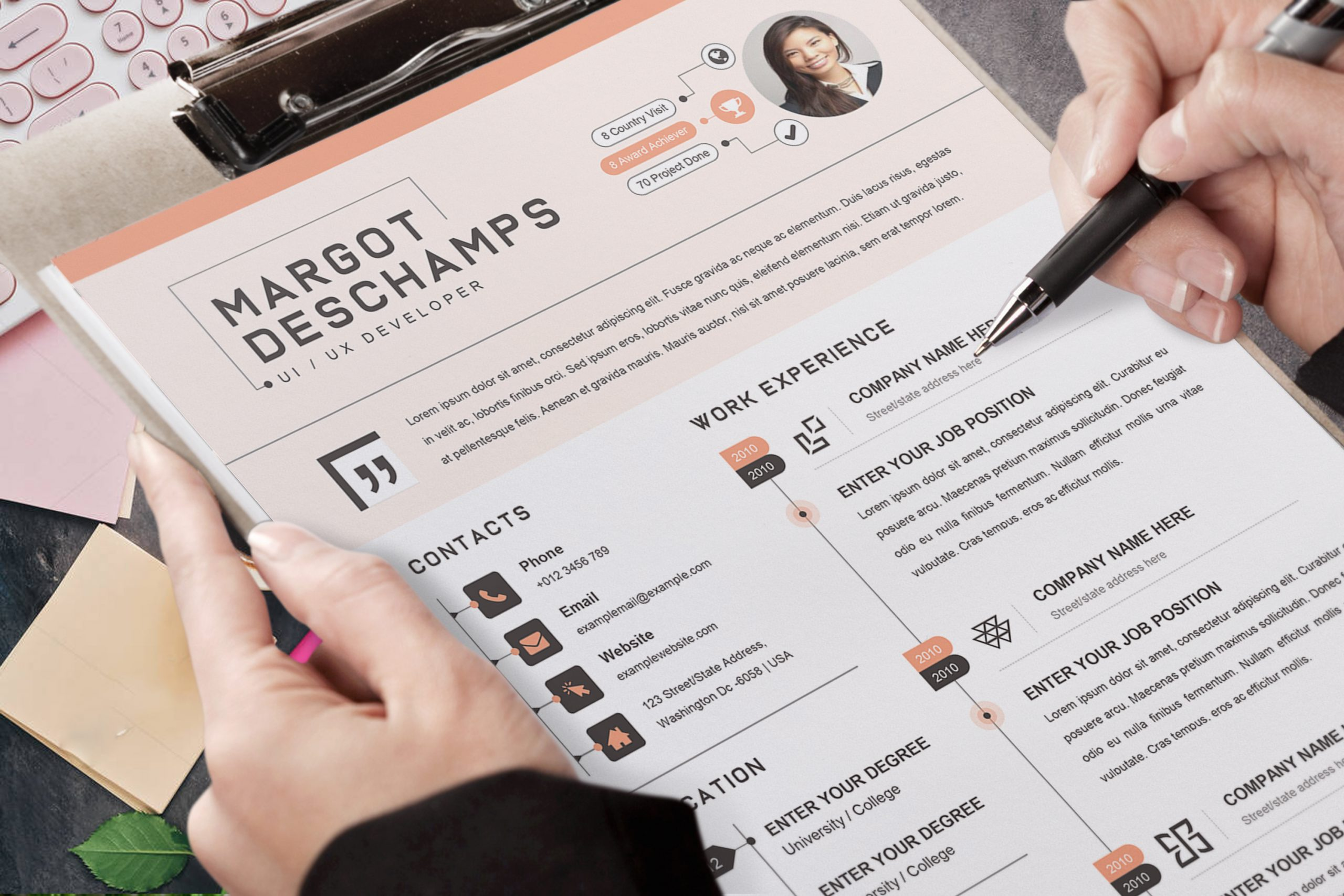Infographic-Resume-CV-Template-5