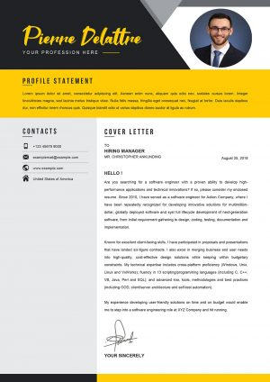 Sample Cover Letter Word for Job