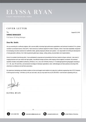 Job-Application Cover Letter Template