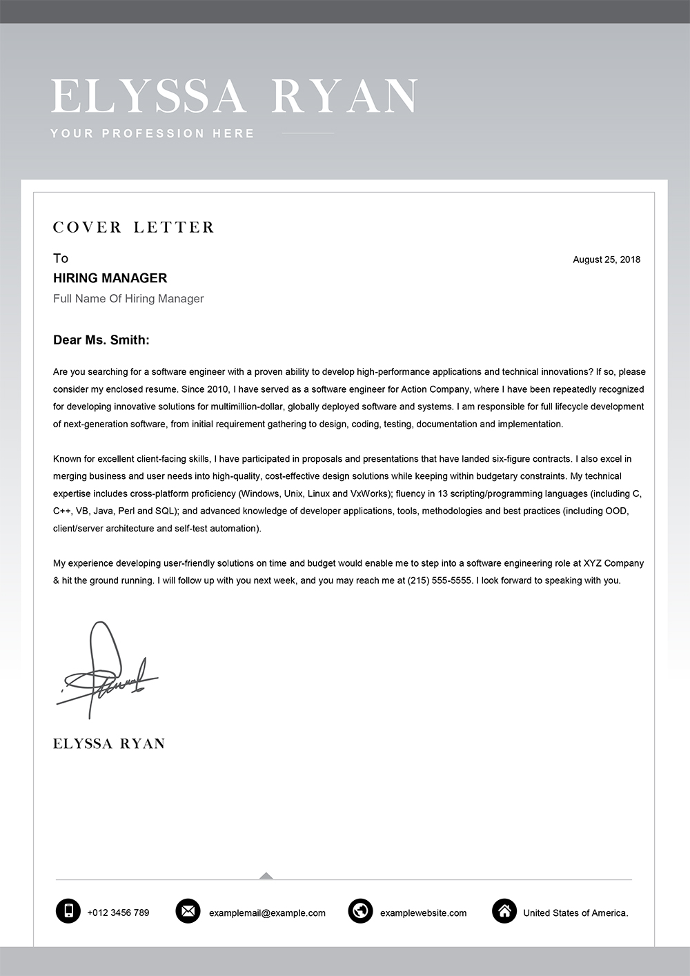 Template For Application Letter from www.mycvstore.com