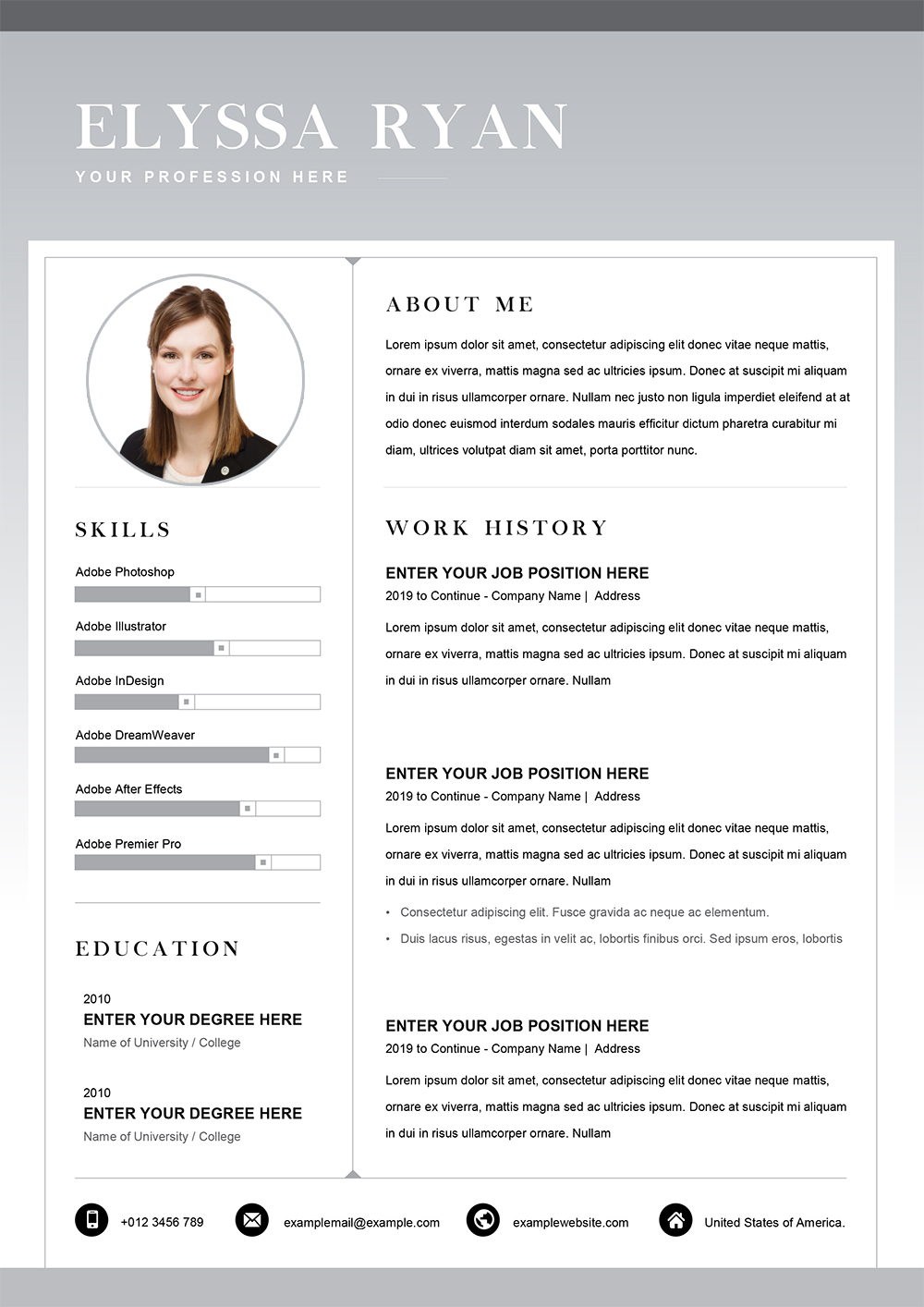 Functional Resume Word Template Cv Templates In Word To