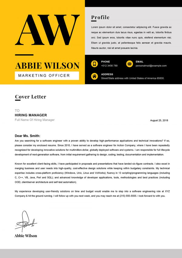 Marketing Officer Cover Letter Word Downloadable