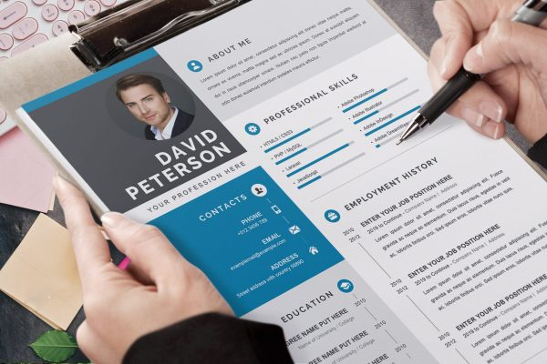 Professional CV Template Grey