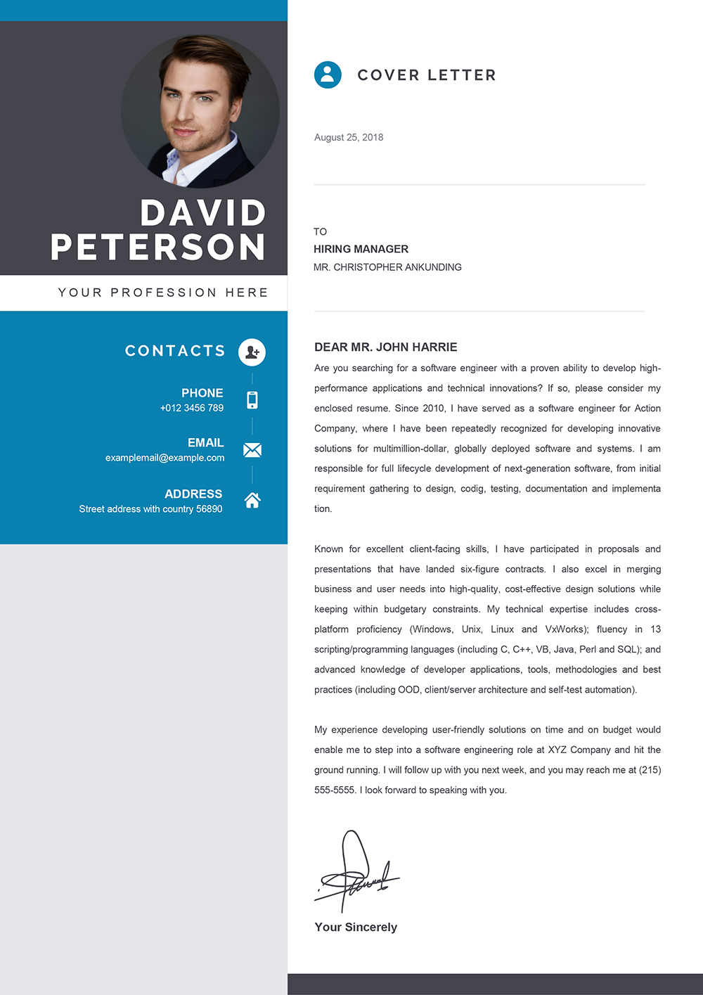 Download Cover Letter Template Word from www.mycvstore.com