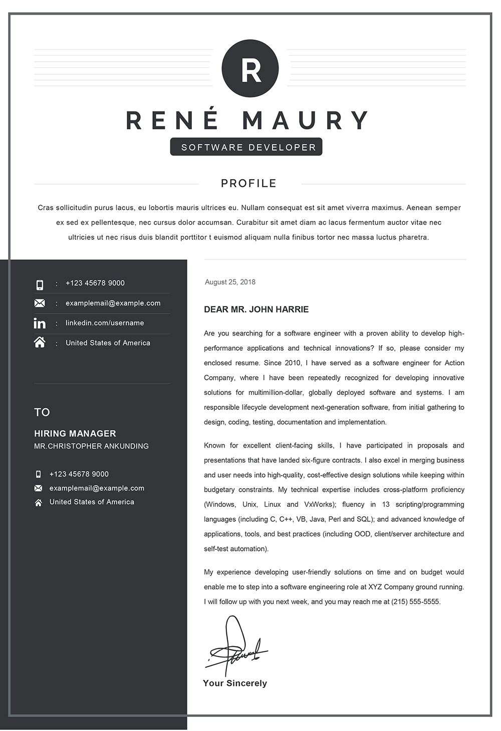 Cover Letter For Server from www.mycvstore.com