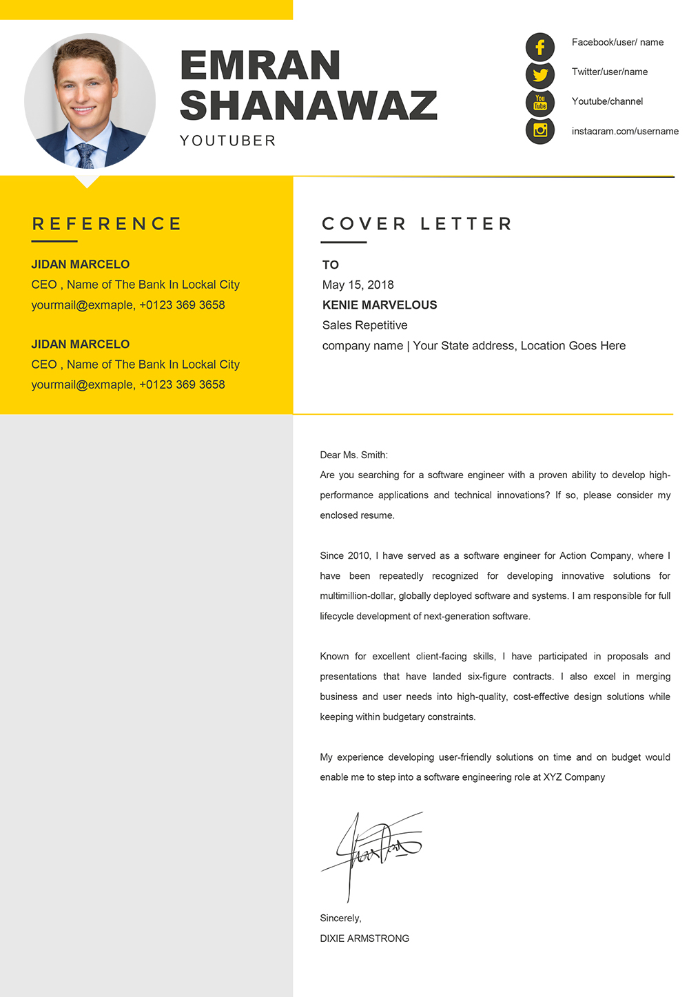 Management Cover Letter Template from www.mycvstore.com
