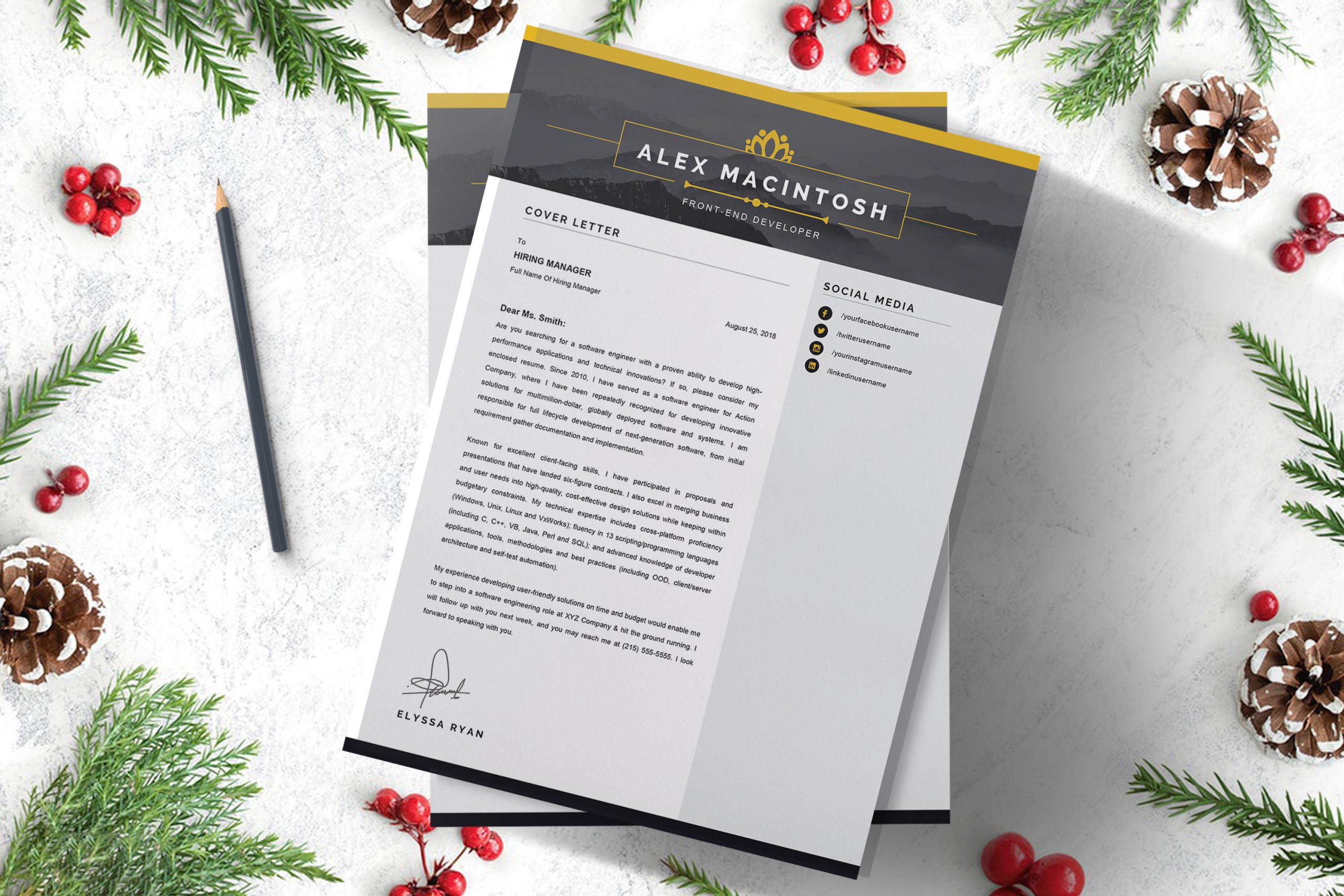 Classic Cover letter Word Template