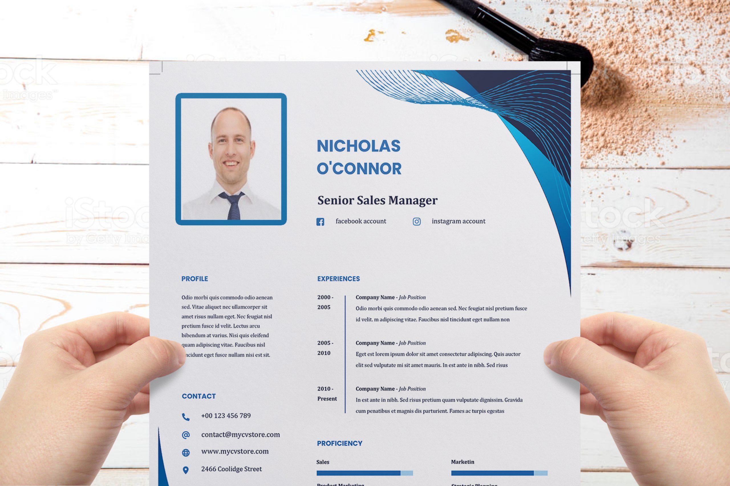 Clean Resume CV Template Word Format