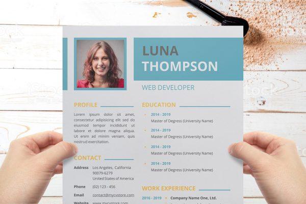 Clean Simple Resume Template Word Format