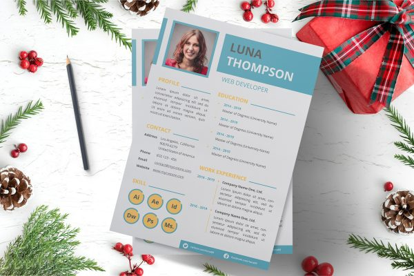 Clean Simple Resume Template Word Format