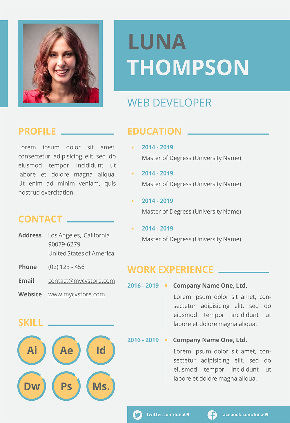 Resume Template Microsoft Word 2014 from www.mycvstore.com
