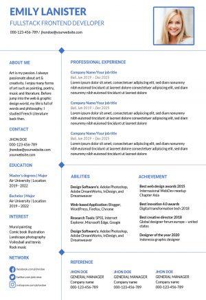 Clean Word Resume Template