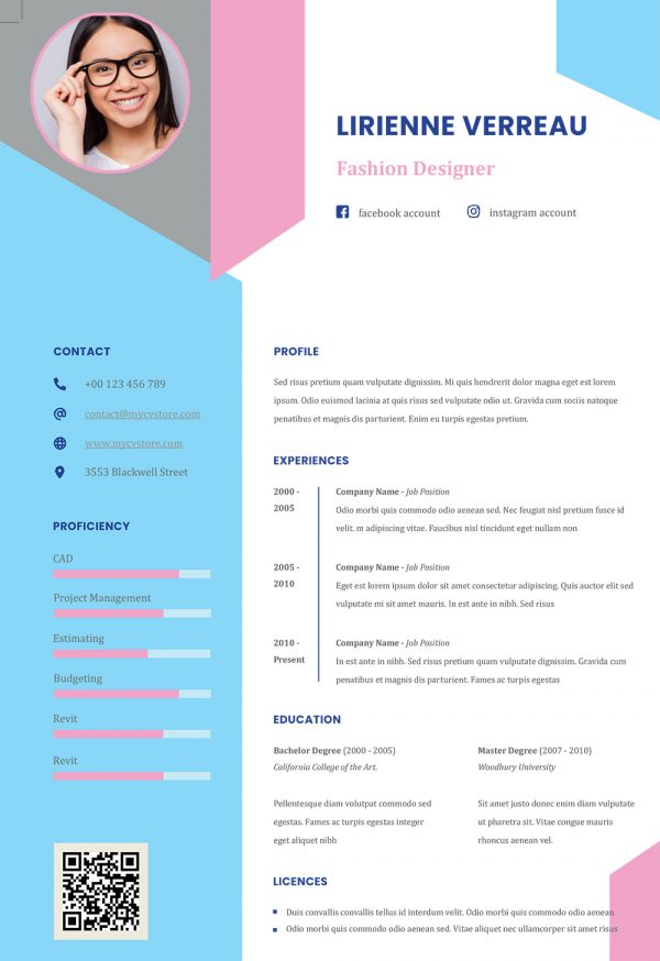 Creative Infographic Resume Word Format