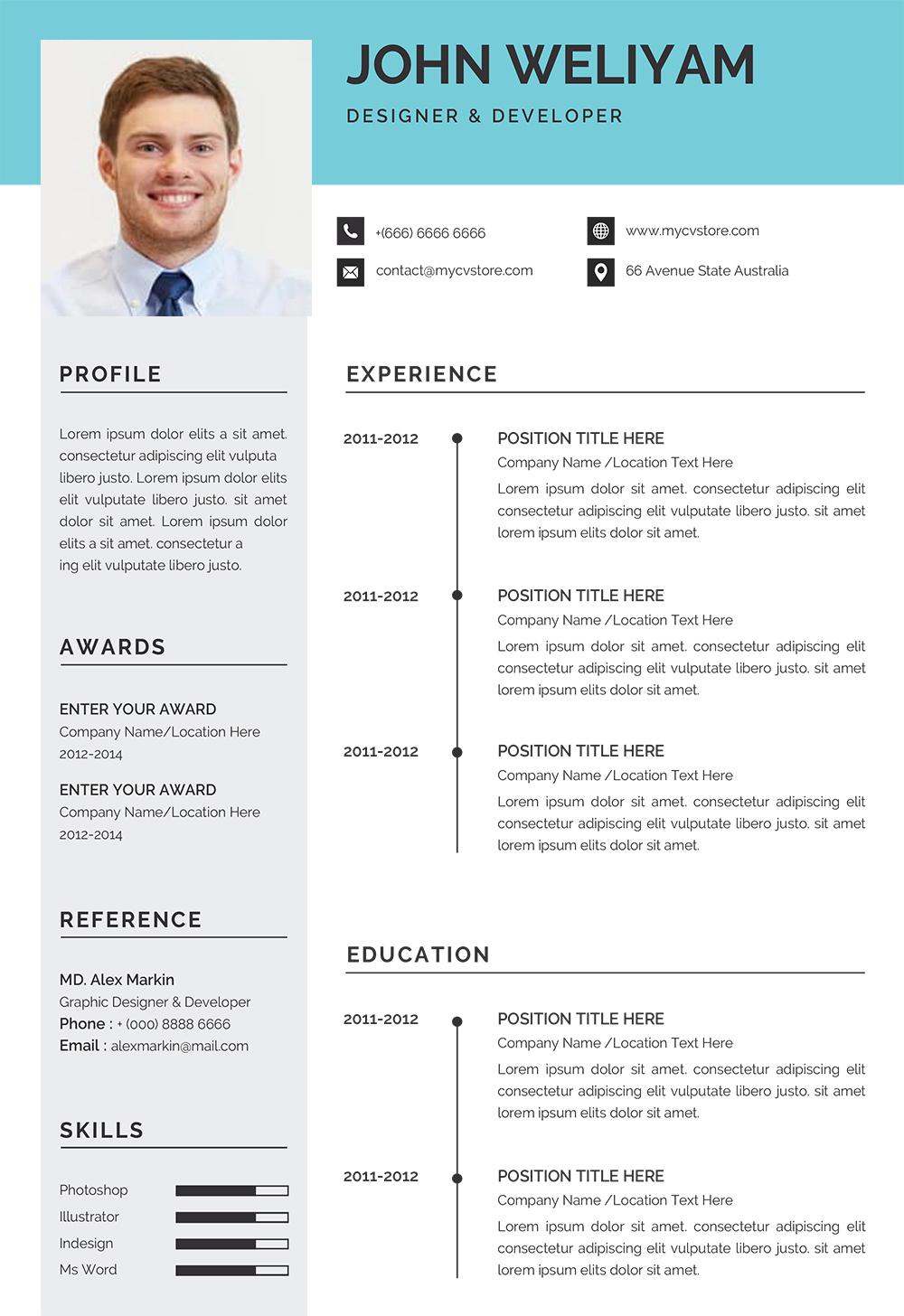 Resume Sample Template Download Resume Template Word Format