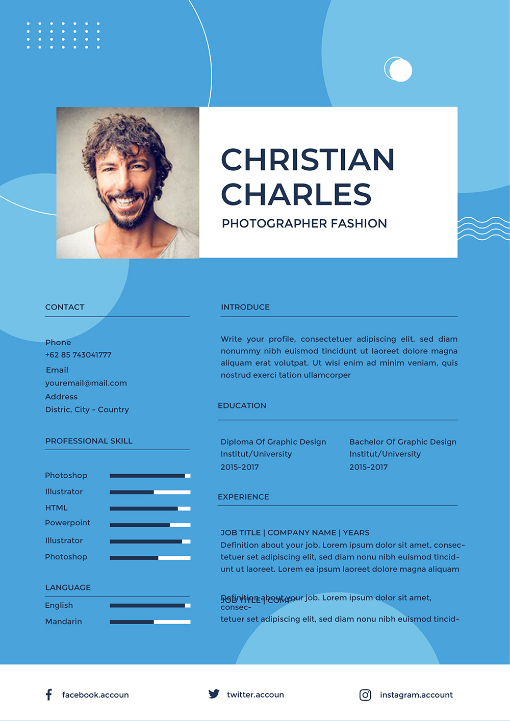 Best Resume Template Word To Download- (Doc / Docx) File