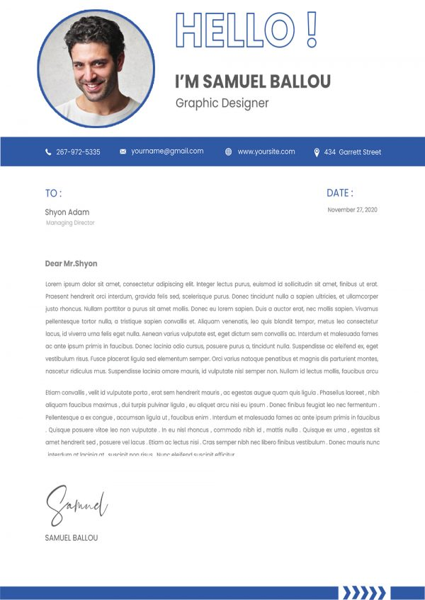 Clean Cover Letter Novoresume Template Word