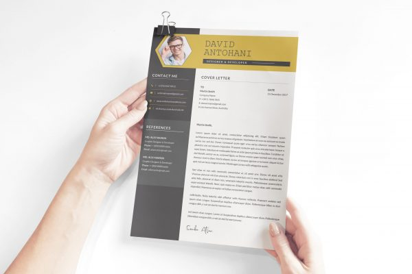 Cover Letter Template Word with Photo