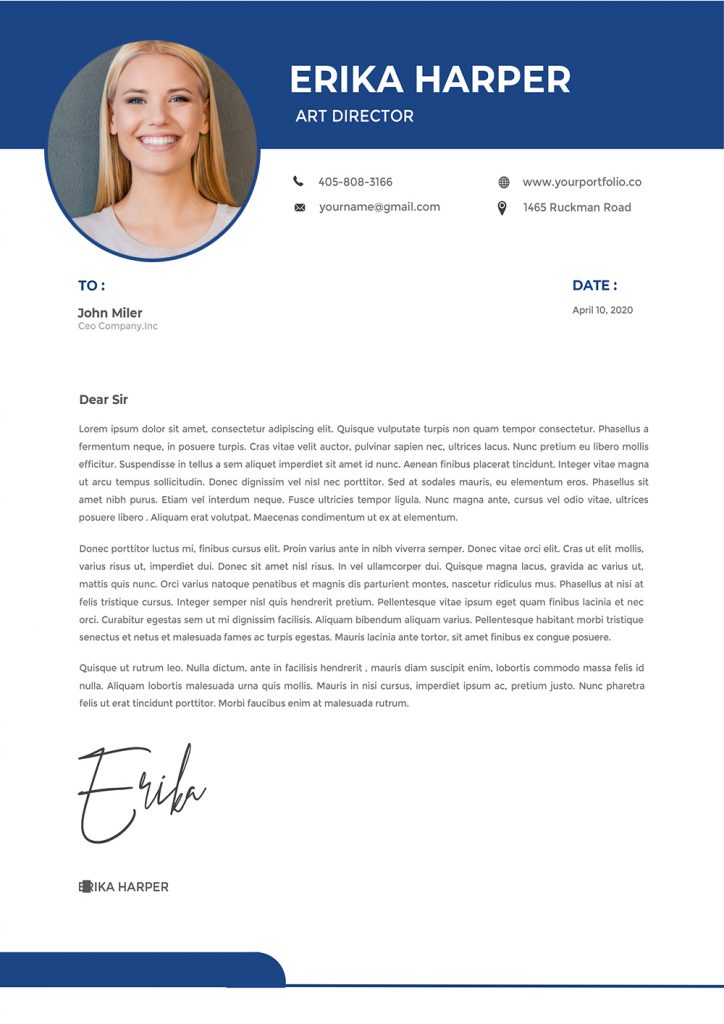 creative cover letter template design to download word format