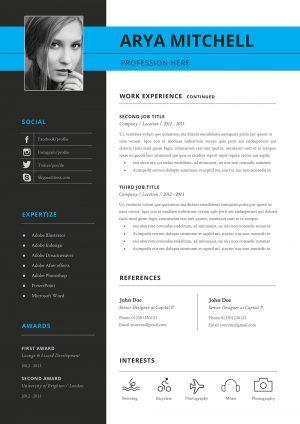 Creative Resume Template Two Column