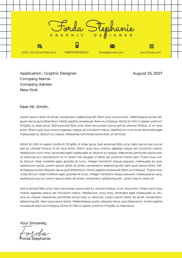 Customizable Cover Letter Example