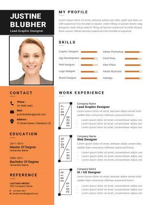 Dynamic CV template 1
