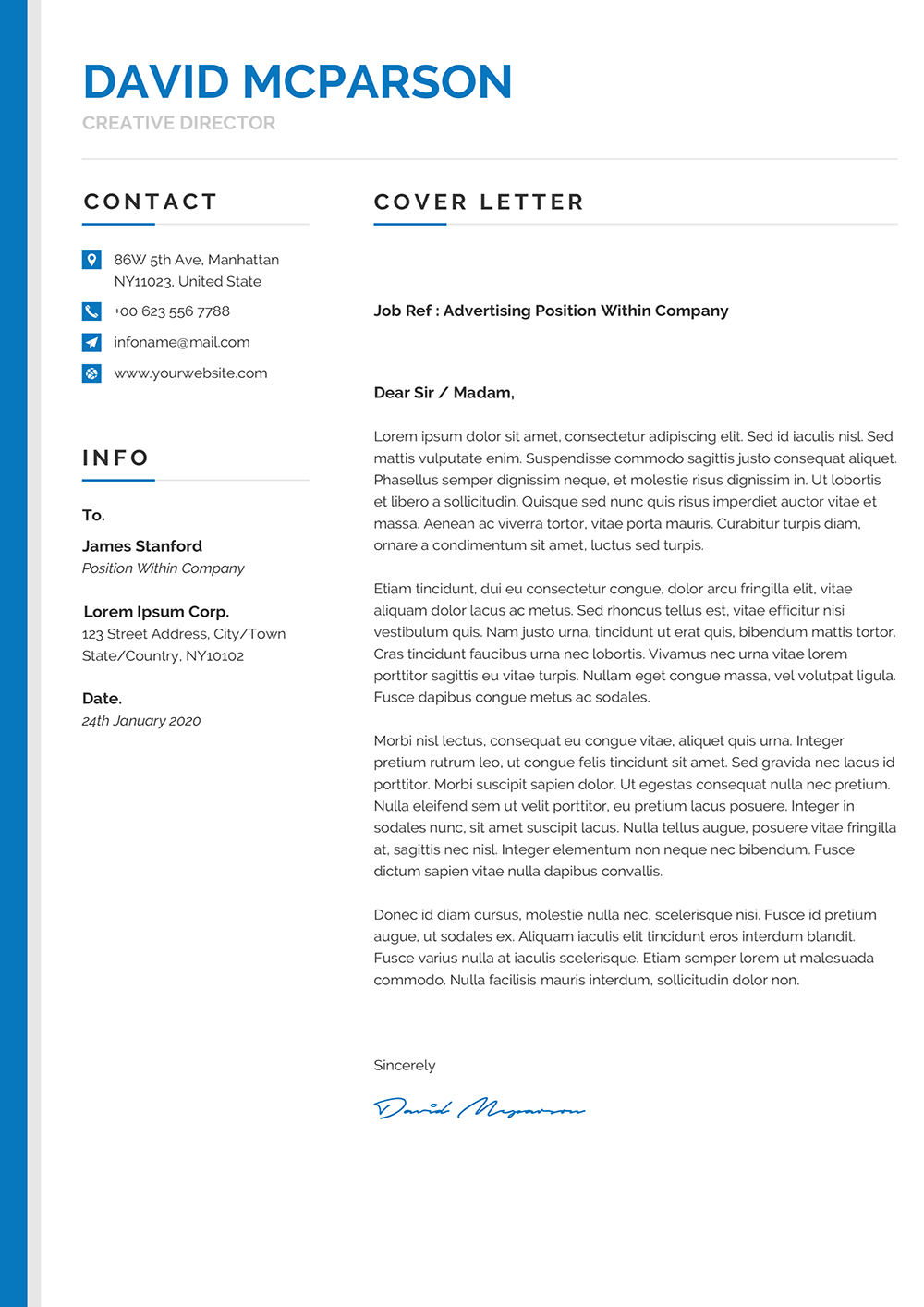 Modern Original Editable Cover Letter Template to download ...
