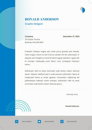 Eye Catching Cover Letter Template