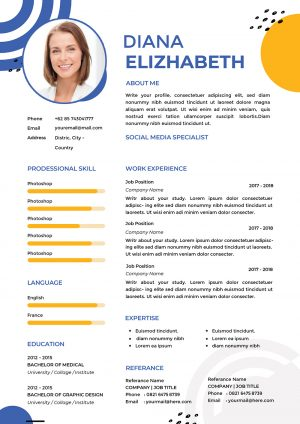 Hostess CV Design