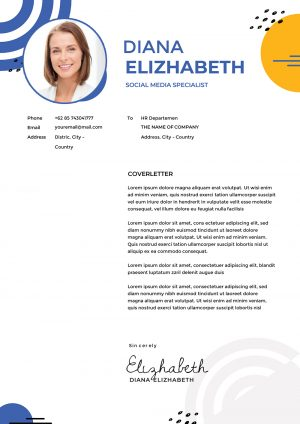 Hostess Cover Letter Design