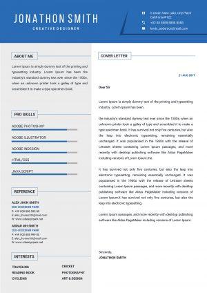 Innovative Cover Letter Template
