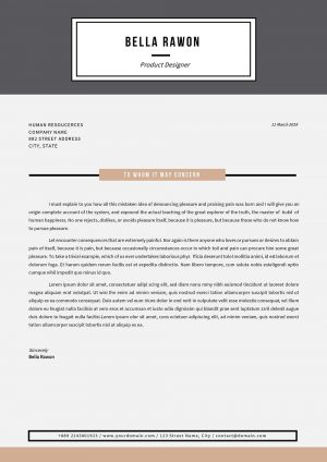 Microsoft Word Cover Letter Template