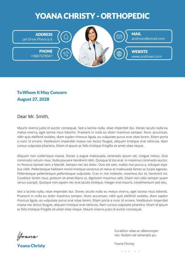 Minimalist Professional Cover Letter Template