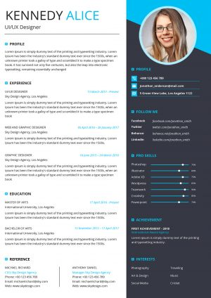 Modern Structured CV Template