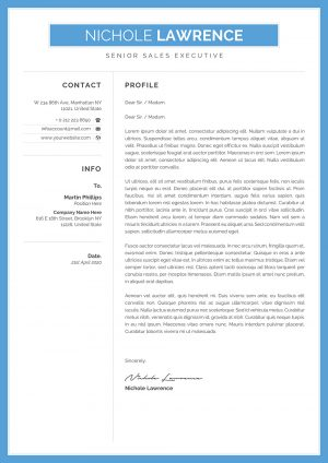Online Cover Letter Example