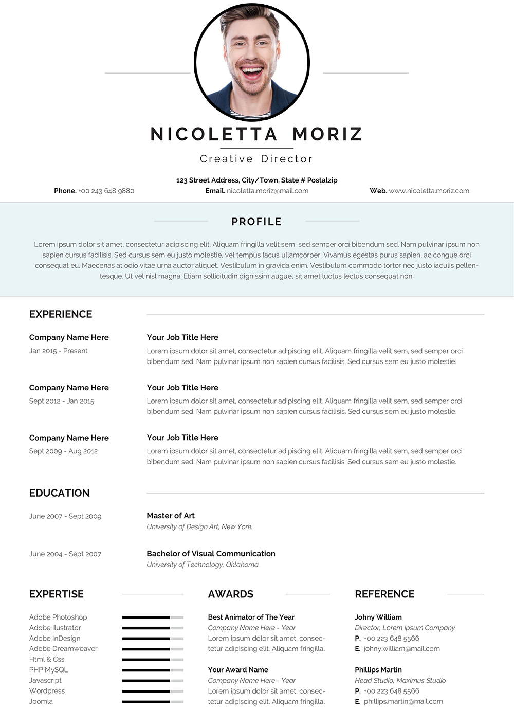 Swiss Style CV Template for 2021 to download Word format ...