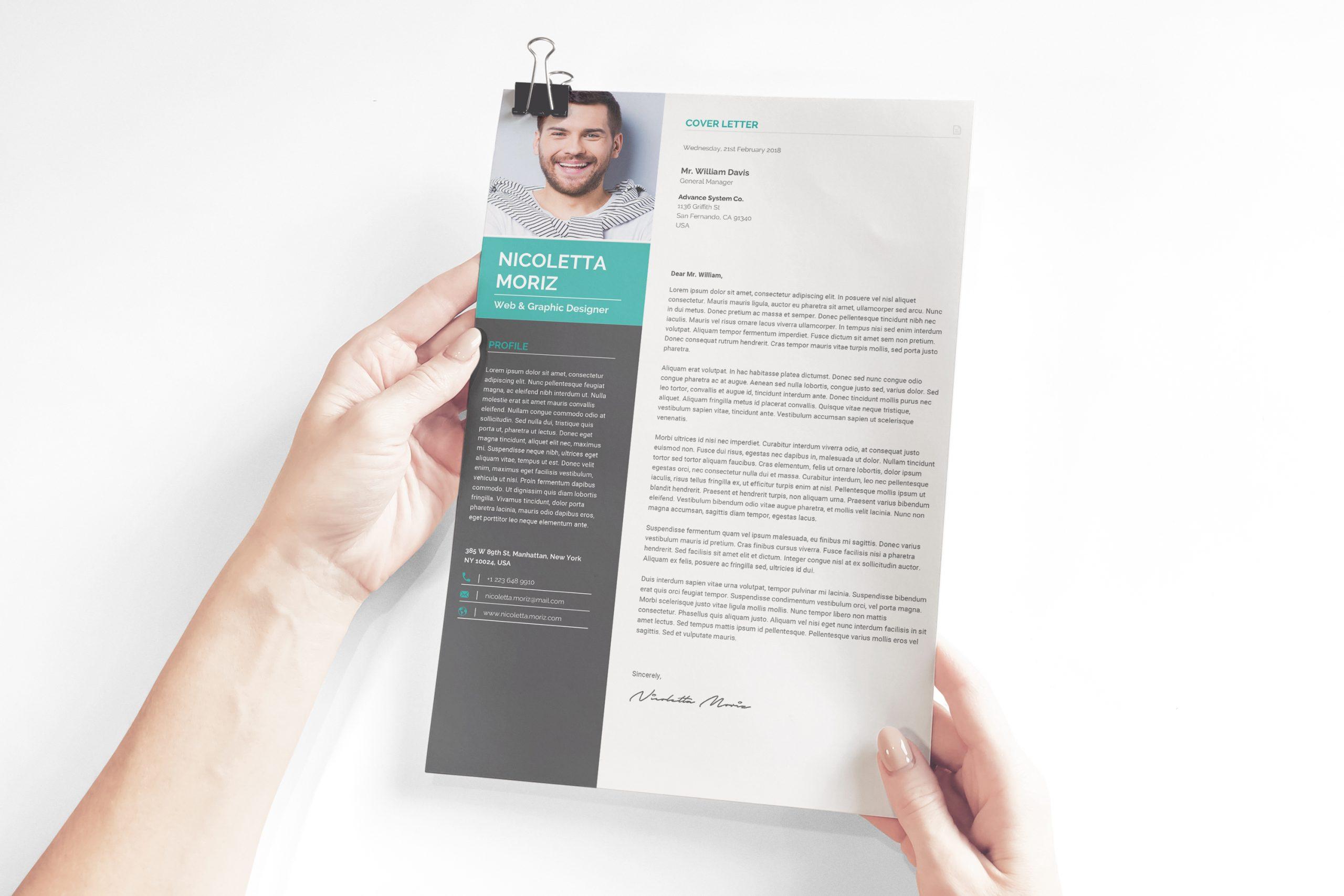 Technician Cover Letter Design