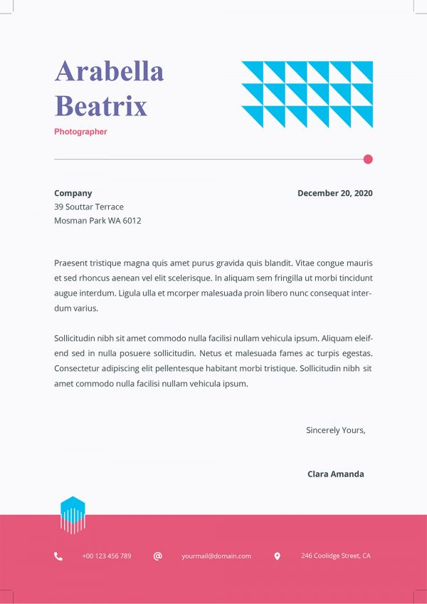 Word Cover Letter Example