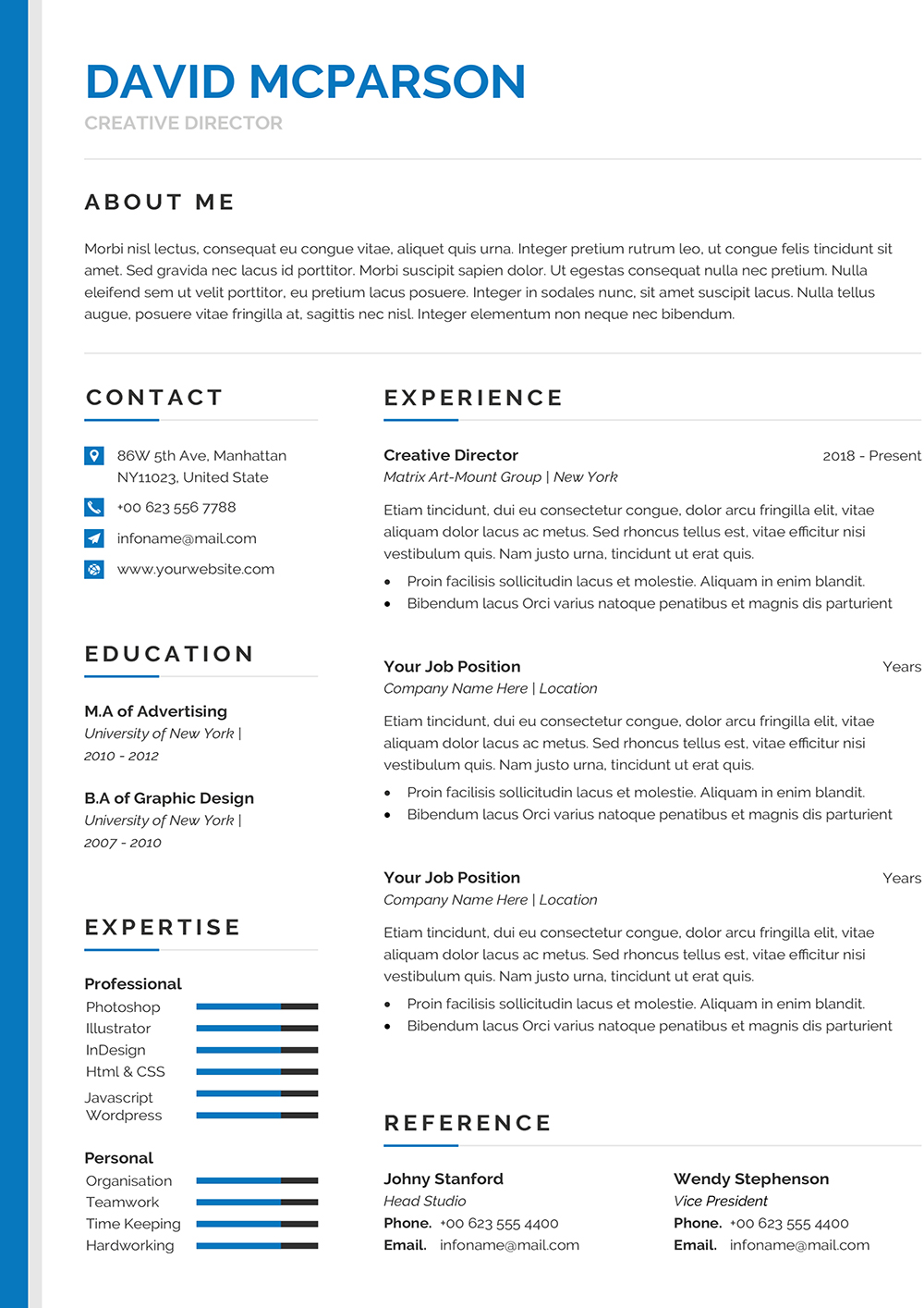 Modern Editable CV Template to download Word format ...