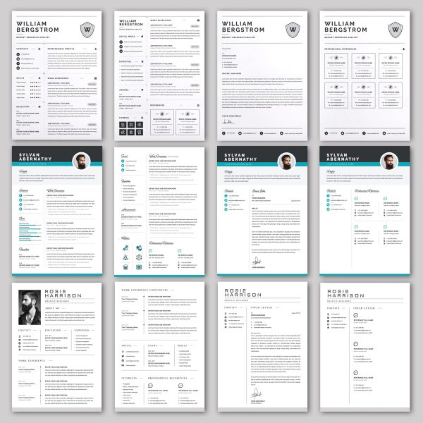 20 RESUME/CV/Cover Letter Template Bundle Microsoft Word Format 4