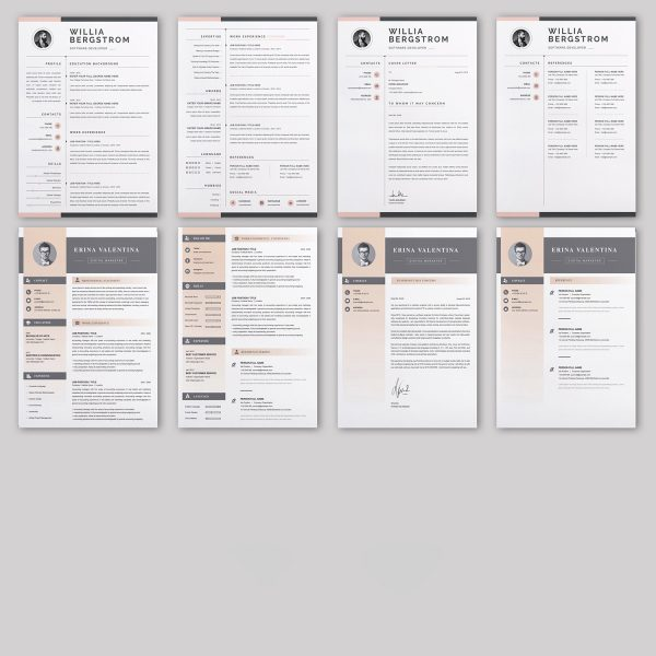 20 RESUME/CV/Cover Letter Template Bundle Microsoft Word Format 2