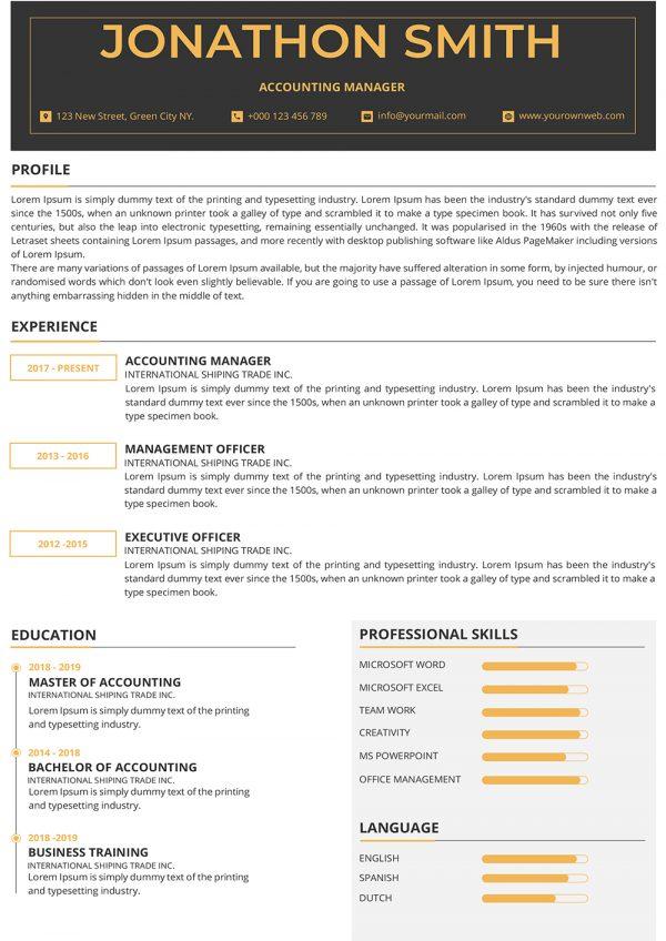 Impressive Resume to Download
