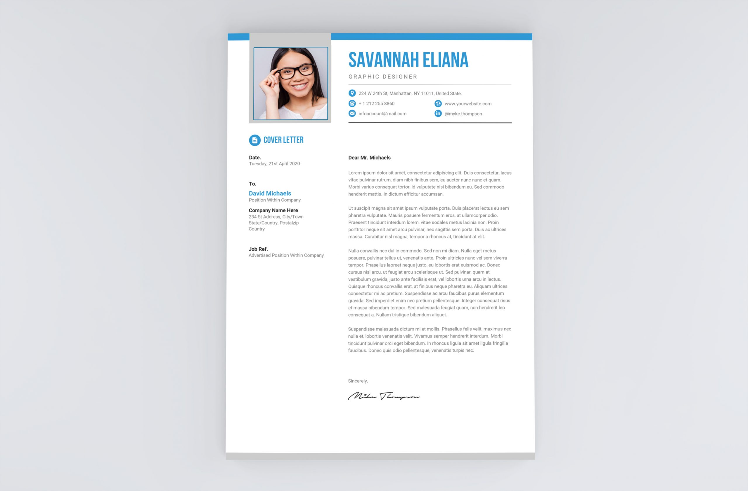 Modern Cover Letter to Download