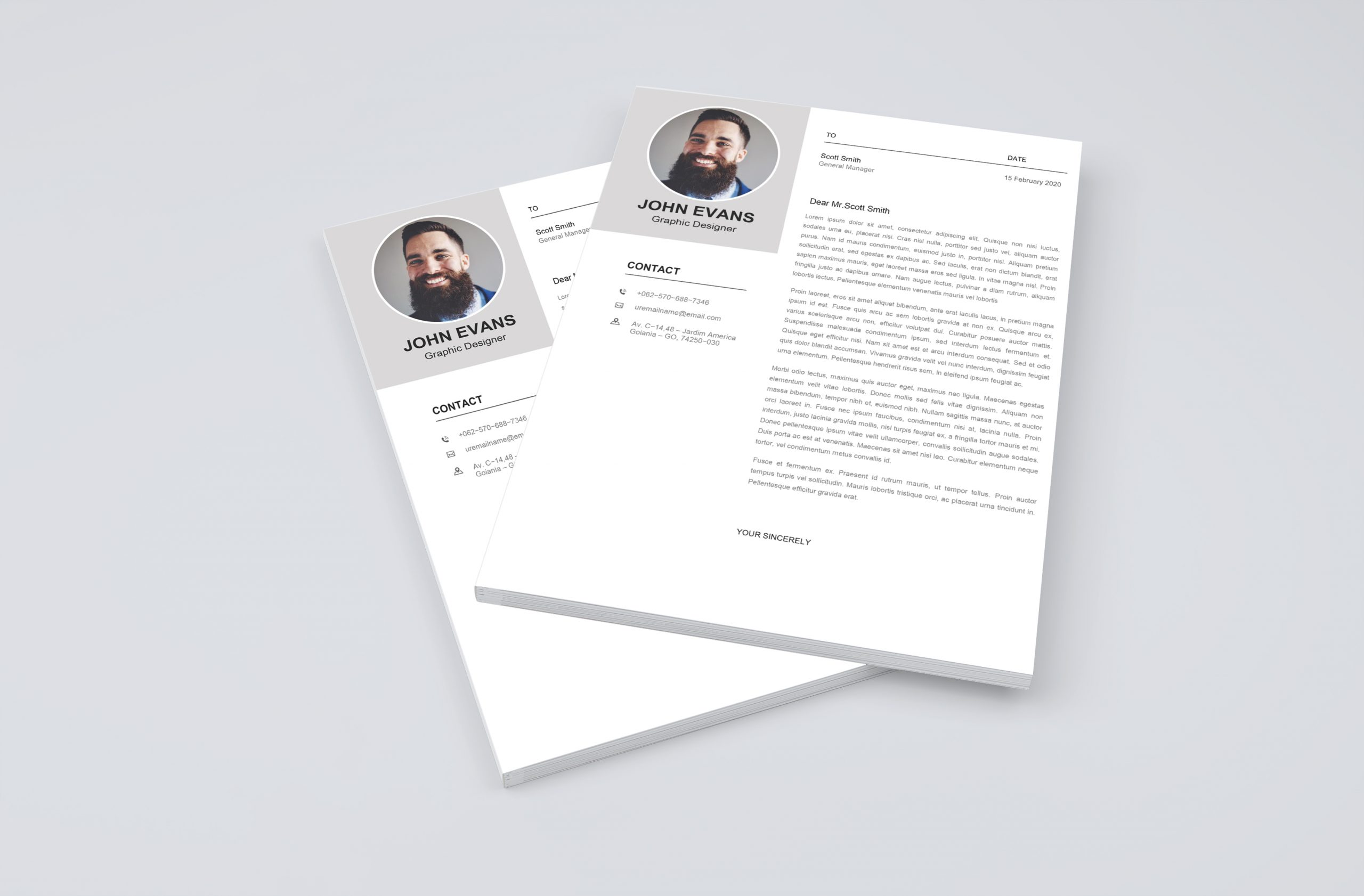 Attractive Cover Letter Template 2021