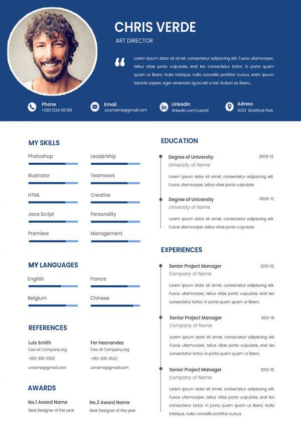Best CV Template 2021