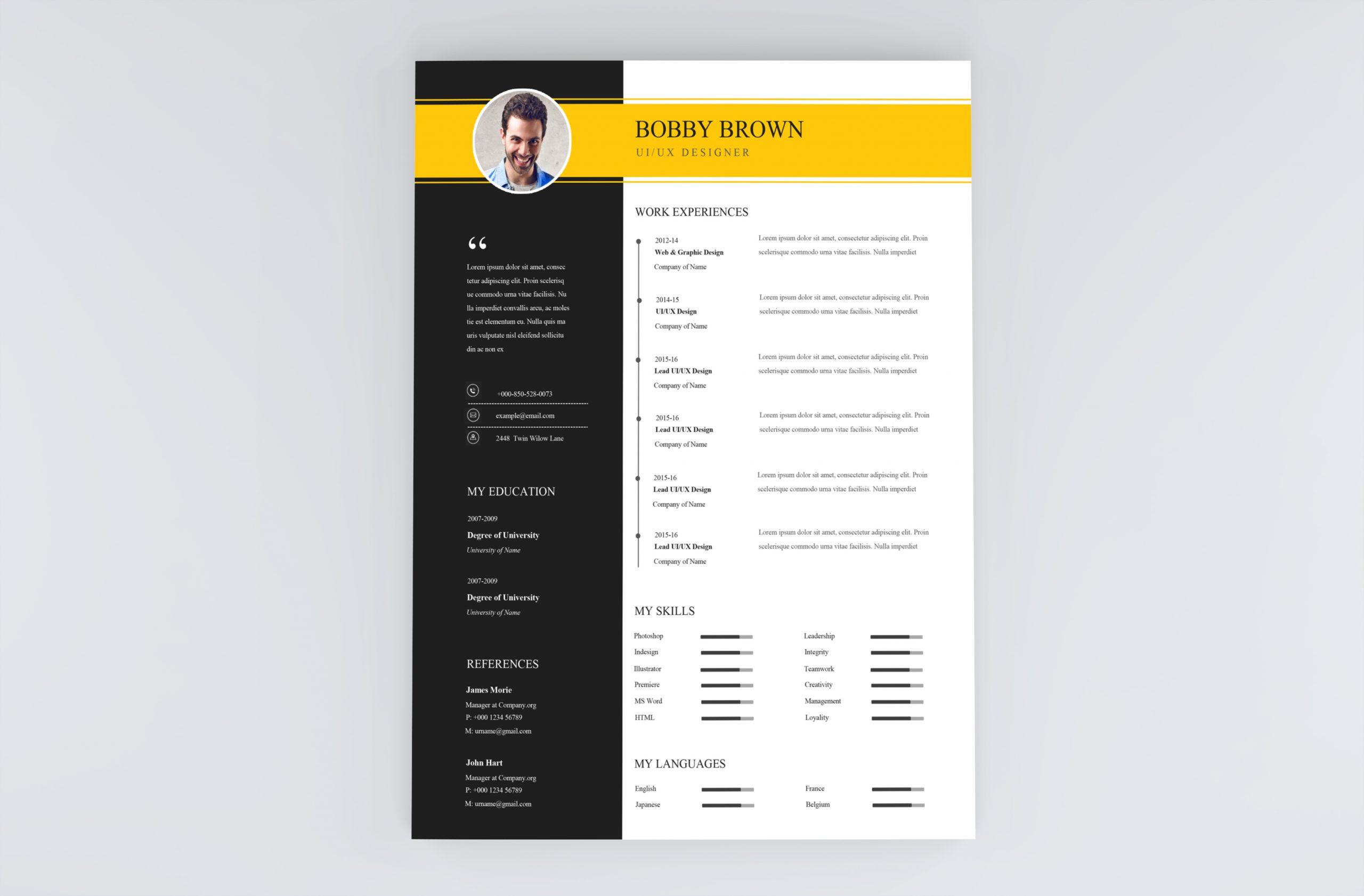 Best Simple Resume Template 2021
