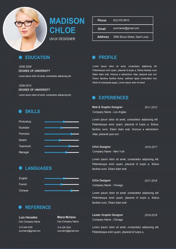 Clean & Professional Editable Word CV Template