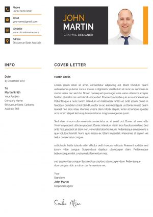 Clean and Creative Modern Cover Letter Template
