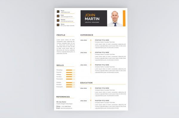 Clean and Creative Modern Resume Template