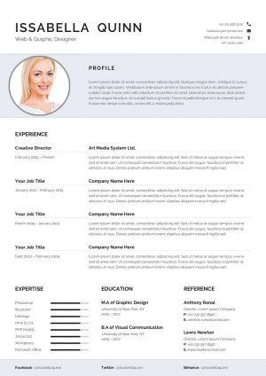 Cleaner CV template